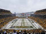 Heinz Field in the Snow Prints by Don Wright