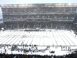 Snow Covered Lincoln Financial Field Fotografisk trykk av Matt Rourke