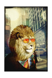 King Lion of the Urban Jungle Giclee Print by  GI ArtLab
