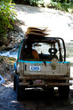 Jeep Going Surfing in Costa Rica Poster Print
