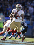NFL Playoffs 2014: Jan 12, 2014 - 49ers vs Panthers - Colin Kaepernick Photographic Print by Gerry Broome