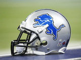 Detroit Lions Helmet Photographic Print by Rick Osentoski