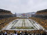 Heinz Field with Snow Photographic Print by Don Wright