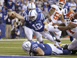 NFL Playoffs 2014: Jan 4, 2014 - Colts vs Chiefs - Andrew Luck Photographic Print by Michael Conroy