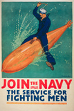 Join the Navy War Propaganda Vintage Ad Poster Prints