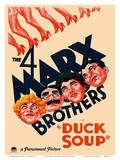 The 4 Marx Brothers in Duck Soup Posters