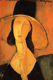 Amadeo Modigliani Portrait of a Woman with Hat Posters by Amedeo Modigliani