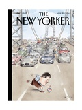 Playing in Traffic - The New Yorker Cover, January 20, 2014 Regular Giclee Print by Barry Blitt