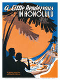 A Little Rendezvous in Honolulu Affiches par Cliff Miska
