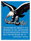 Bald Eagle - The History of Liberty - Woodrow Wilson Posters