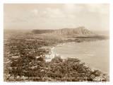 Waikiki Area and Diamond Head Crater - Honolulu, T.H. Territory of Hawaii Kunstdrucke