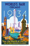 World's Fair Chicago 1934 - Tour the World at the Fair Affiche par Weimer Pursell