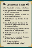 Dachshund House Rules Humor Poster Posters