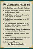 Dachshund House Rules Humor Prints