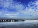 Skies over the Pier Photographic Print by Adrian Campfield