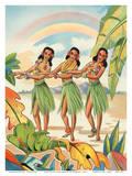 Aloha Nui Loa from Hawaii - Hula Girls Art