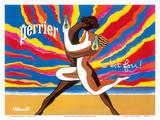 Perrier - The Dancing Couple (Le Couple Dansant) - This is Crazy! (C'est Fou!) Plakater af Bernard Villemot