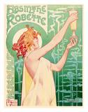 Absinthe Robette - Art Nouveau Nude Belgian Giclee Print