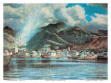Honolulu Harbor 1850 Prints by Peter Hurd