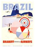Rio de Janeiro Brazil - Braniff International Airways - Poster