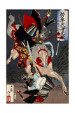 Sagami Jirô and Taira No Masakado, from the Series Yoshitoshi's Incomparable Warriors Giclee Print by Yoshitoshi Tsukioka