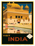 Visit India - The Golden Temple (Harmandir Sahib) - Amritsar, Punjab Posters by Fred Taylor