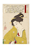 Wife of Kawase - Modern Figure Giclee Print by Yoshitoshi Tsukioka