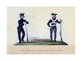 A Soldier of the Provisorial Battalions, and a National Guard Giclee Print