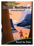 Pacific Northwest Wonderland by Train - Union Pacific Railroad Prints