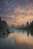 Li River Sunrise Photographic Print by Yan Zhang
