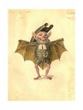 Bat 1873 'Missing Links' Parade Costume Design Giclée-tryk af Charles Briton