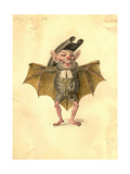 Bat 1873 'Missing Links' Parade Costume Design Giclee Print by Charles Briton