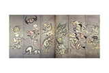 Hundreds Demon March at Night Giclee Print by Kyosai Kawanabe
