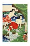 Chigogafuji Enishima, Woman Divers Giclee Print by Yoshitoshi Tsukioka