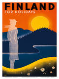 Finland for Holidays - Finnish State Railways Print by Ingrid Bade