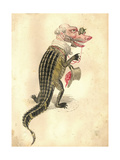 Alligator 1873 'Missing Links' Parade Costume Design Giclee Print by Charles Briton