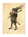 Wild Boar 1873 'Missing Links' Parade Costume Design Giclee Print by Charles Briton