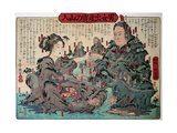 Go into Mountain Man and Woman for Give Birth Giclee Print by Kyosai Kawanabe