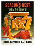 Season's Best Way to Travel - Pennsylvania Railroad Prints