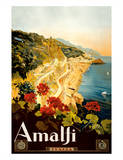 Amalfi Italia - Campania, Italy Giclée-trykk av Mario Borgoni