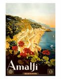 Amalfi Italia - Campania, Italy Giclee Print by Mario Borgoni