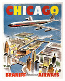 Chicago - Braniff International Airways Giclee Print