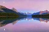 Maligne Lake Moonrise Photographic Print by Yan Zhang