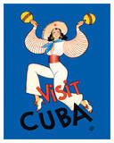 Visit Cuba - Native Cuban Dancer with Maracas Giclee Print by Conrado Walter Massaguer