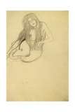 Seated Female Nude Giclee Print by Gustav Klimt