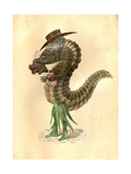 Leech 1873 'Missing Links' Parade Costume Design Giclee Print by Charles Briton