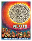 Mexico - Pride of Indian Culture - Aztec Tablet and Warriors Giclee Print
