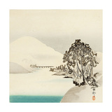 Snow Covered Mountain Giclee Print by Koson Ohara