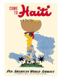 Come to Haiti - Pan American World Airways Gicléetryck av E. Lafond
