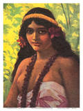 Pala, South Seas Native Hawaiian Girl - Oceanic S.S. Co. Line to Hawaii, Samoa and Australia Posters